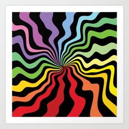Tripping on a Rainbow Art Print