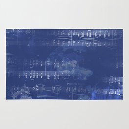 Sheet Music - Mixed Media Partiture #5 Rug