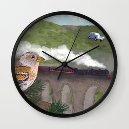 The Flying Car Wall Clock