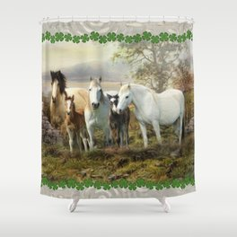 Connemara Ponies Shower Curtain