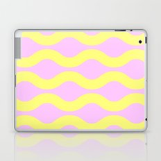 Wavey Lines Yellow & Pink Laptop & iPad Skin