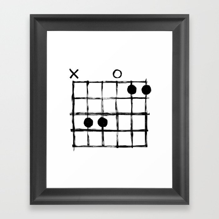 Csus Chord Framed Art Print By Csus Society6