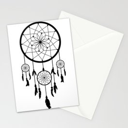 Black Dream Catcher - Native American Indian Art Stationery Cards