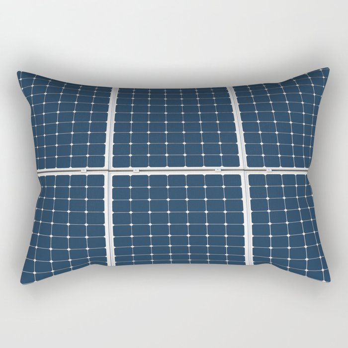 Image Of A Solar Power Panel. Free Clean Energy For Everyone Rectangular Pillow