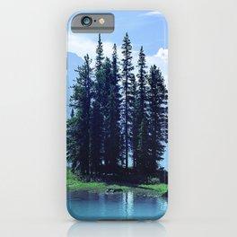Canadian Scenic: Spirit Island Close-Up iPhone Case