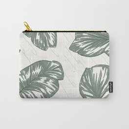 Green Palm Leaves Carry-All Pouch