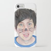 phil jones iPhone & iPod Cases featuring Phil by Beth Mellett