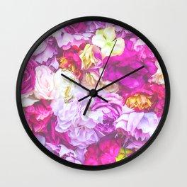 Vintage Bouquet - Pink Purple Wall Clock