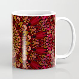 Bohemian Geometric Flower Mandala Coffee Mug