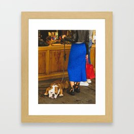 PHOTOGRAPHY - Bored dog Framed Art Print