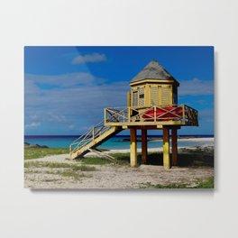 Caribbean lifeguard station Metal Print