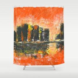 Orange city Shower Curtain