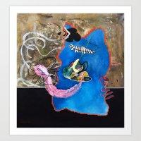 Fishtank (oil on canvas) Art Print