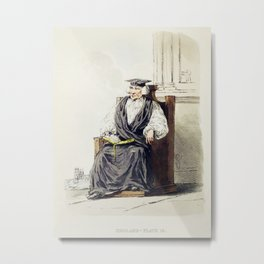 Illustration of a bishop from Picturesque Representations of the Dress and Manners of the English(18 Metal Print