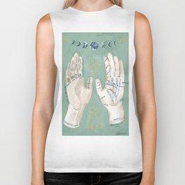 Palmistry Hand Illustration Biker Tank