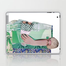 Wanda Goes on Vacation - green modern collage Laptop & iPad Skin