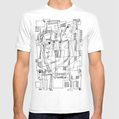 Conversation White MEDIUM Mens Fitted Tee