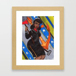 Dont Give Up The Ship Framed Art Print