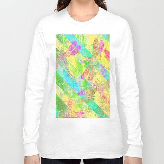 A Dragonflies and Stripes Y Long Sleeve T-shirt