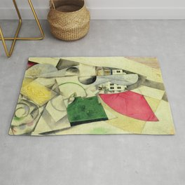 Marc Chagall Cubist Landscape Rug