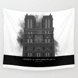 HexArchi - France, Paris, Cathedral of Notre Dame de Paris Wall Tapestry