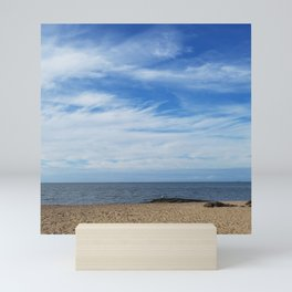 Sea and sky morning in Madison, Connecticut Mini Art Print