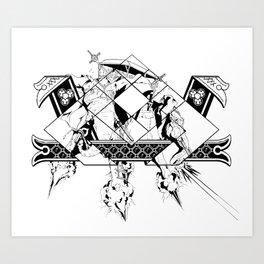 Ancient Tandem Psychic War Elephaint  Art Print
