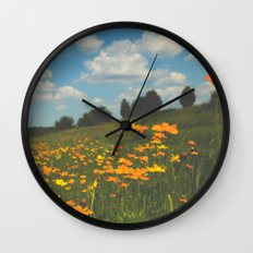 Dreaming in a Summer Field Wall Clock