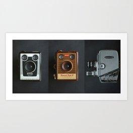 Vintage Camera Triptych Art Print