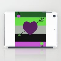 asexual iPad Cases featuring AroAce Card by ta_kala