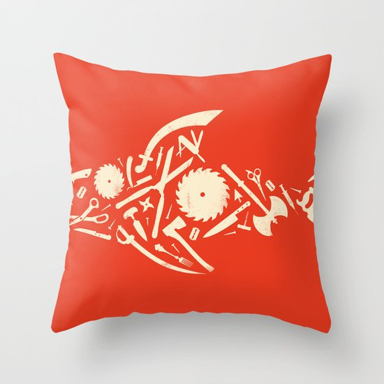 Sharp! Throw Pillow