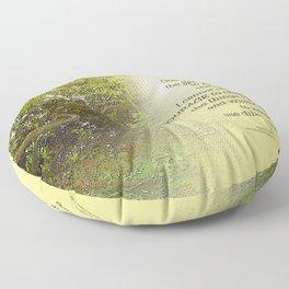 Serenity Prayer Tree Yellow Green Floor Pillow