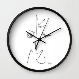 Demeter Moji d25 3-3 w Wall Clock