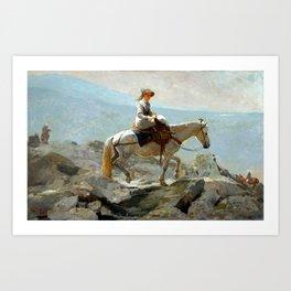 The Bridle Path, White Mountains Art Print