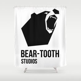 Bear-Tooth Logo Shower Curtain