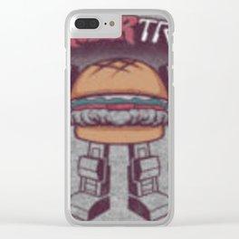 Burger Tron Clear iPhone Case