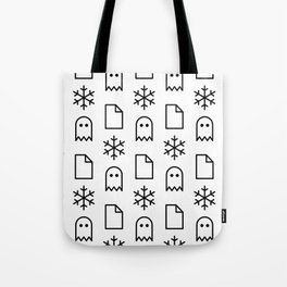 Paper, Snow, A Ghost. Tote Bag