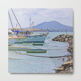 Boats on the river Metal Print