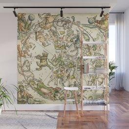 """Albrecht Dürer """"Celestial map of the Northern sky"""" Wall Mural"""