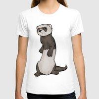 ferret T-shirts featuring Wild Ferret by Szilárd A Legjobb