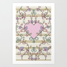 Vintage Summer Love Art Print