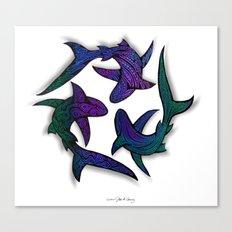 SHARK CIRCLE II Canvas Print