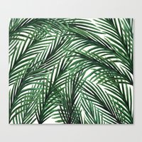 tropical Canvas Prints featuring Tropical by Elly Liyana