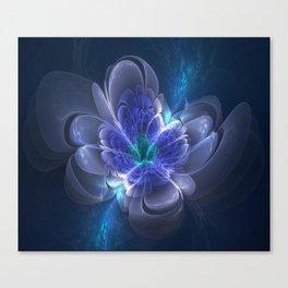 3D Blue Flower V1 Canvas Print