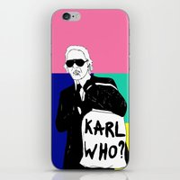 karl lagerfeld iPhone & iPod Skins featuring KARL WHO by TEN-iD