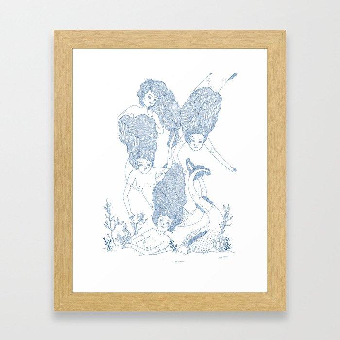Mermaids Framed Art Print