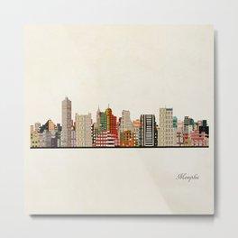 memphis skyline Metal Print