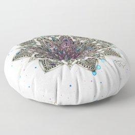 Zen Watercolor Mandala Full Floor Pillow