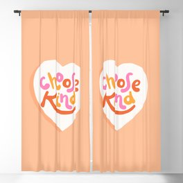 Choose Kind - Motivational words Blackout Curtain