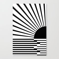 Black rays Canvas Print